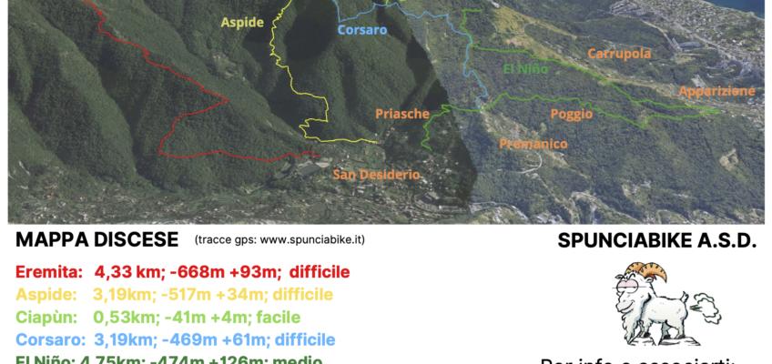 Mappa dei Sentieri Spuncia